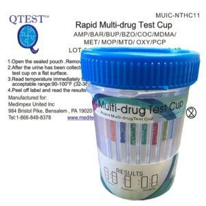 11 Panel Drug Test w/o THC – QTEST™